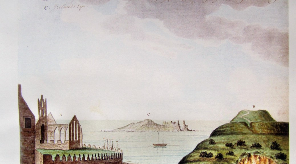 "Gabriel Beranger in this 18th century picture shows on Tower Hill ""The karne, or ancient burying place of the Pagan Irish Kings and Nobility"