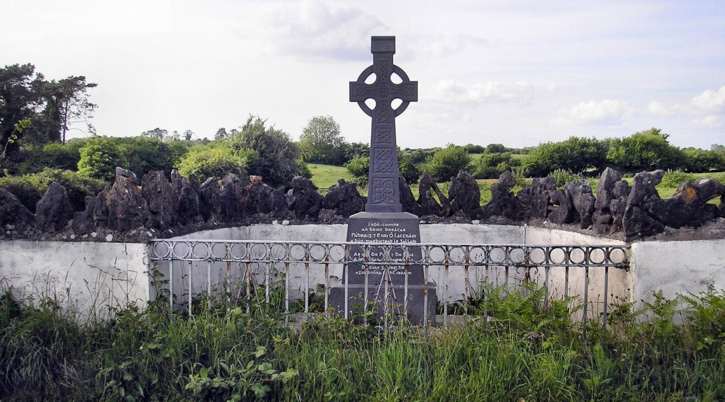 Memorial to brothers Patrick and Harry Loughnane at Moy O Hynes Woods, near Ardrahan