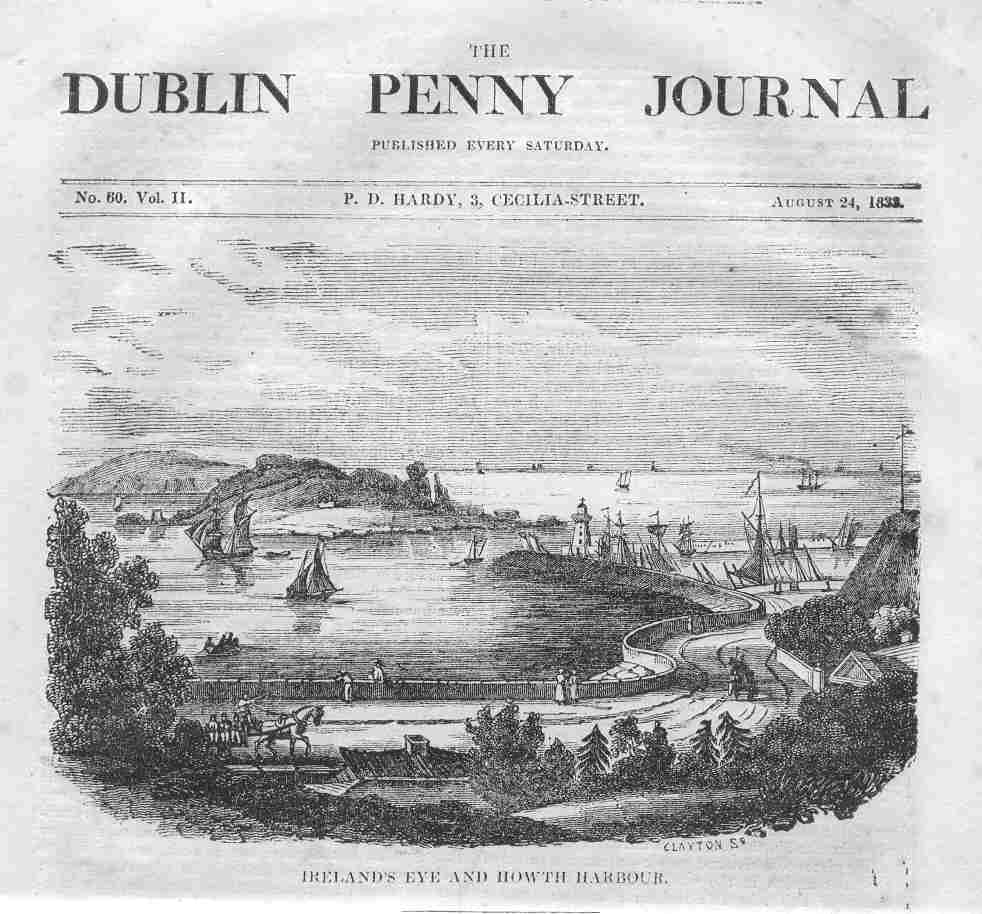 Ireland`s Eye & Harbour,1833