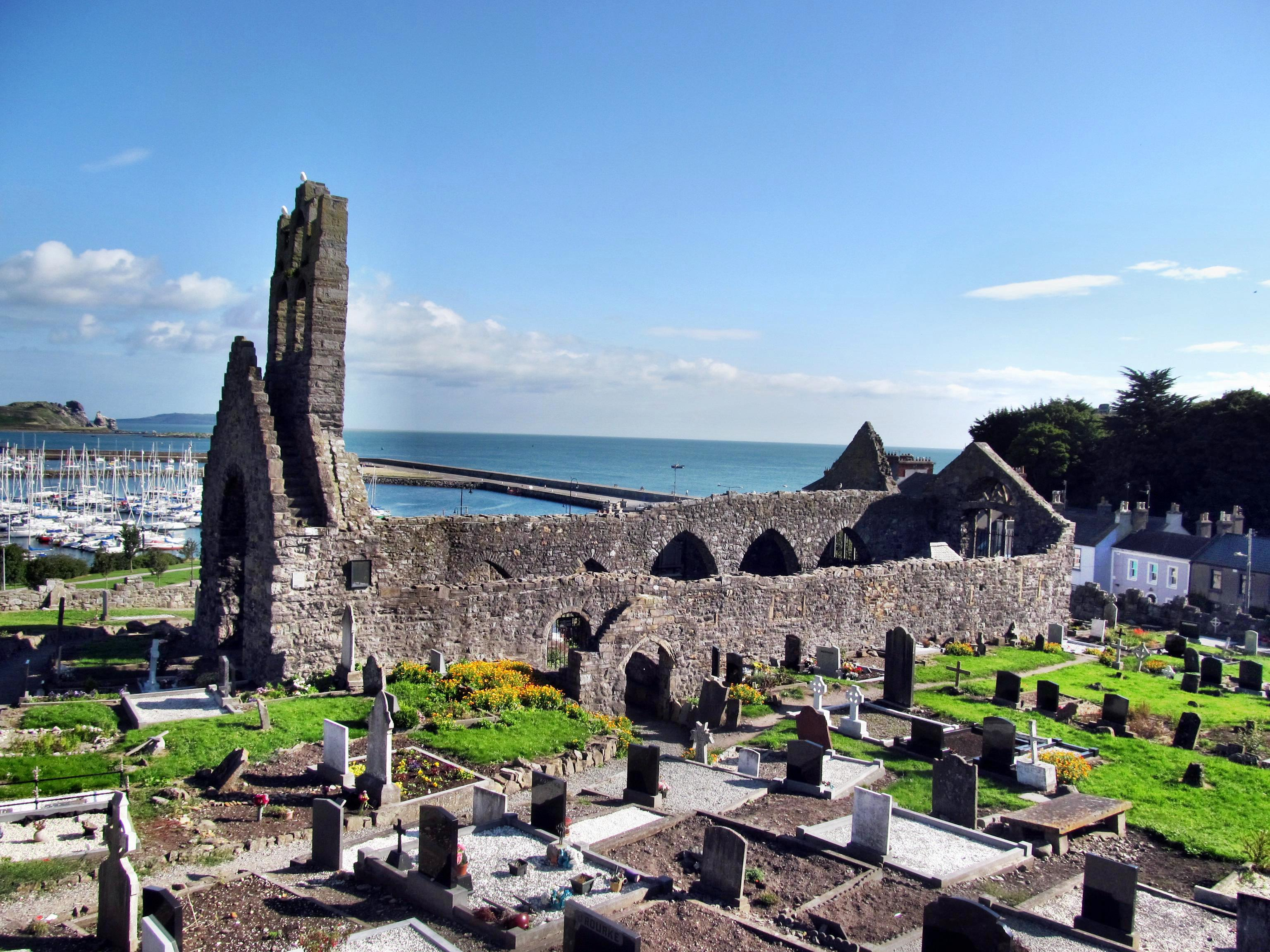 St. Mary's Abbey, overlooking Howth Harbour