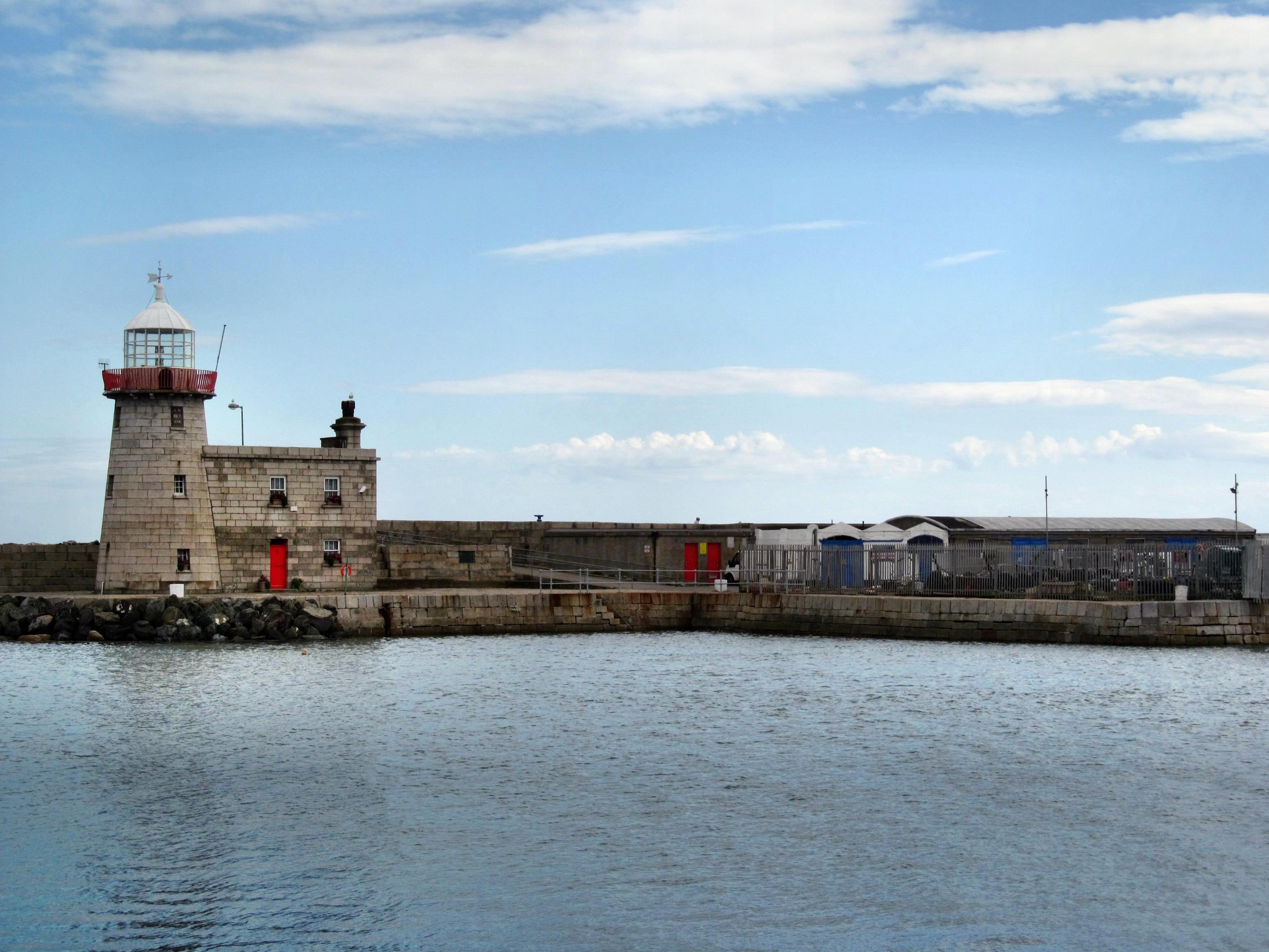 The quay in front of the lighthouse, where the Asgard landed the arms used in the 1916 Easter Rising